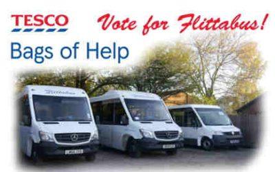 Tesco Bags of Help scheme boosts Flittabus funds